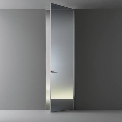 design glazen deur zonder zichtbaar kozijn