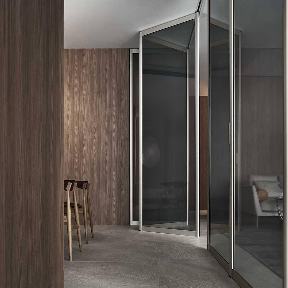 moderne glazen vouwdeur kamerhoog italiaans design