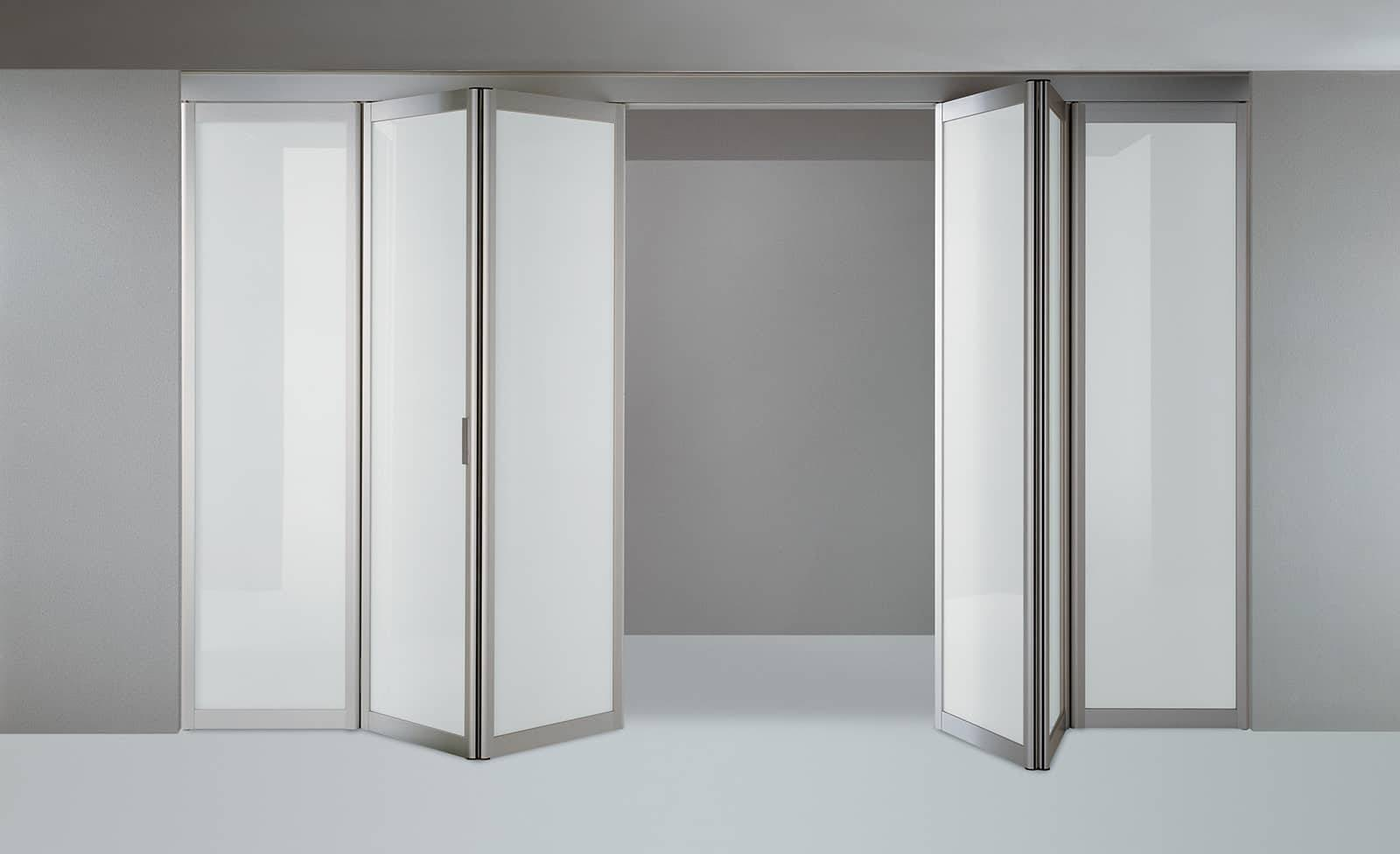 design transparant glazen vouwdeuren met aluminium kader