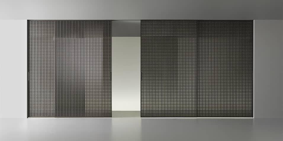 japanse schuifdeuren in aluminium en glas rimadesio