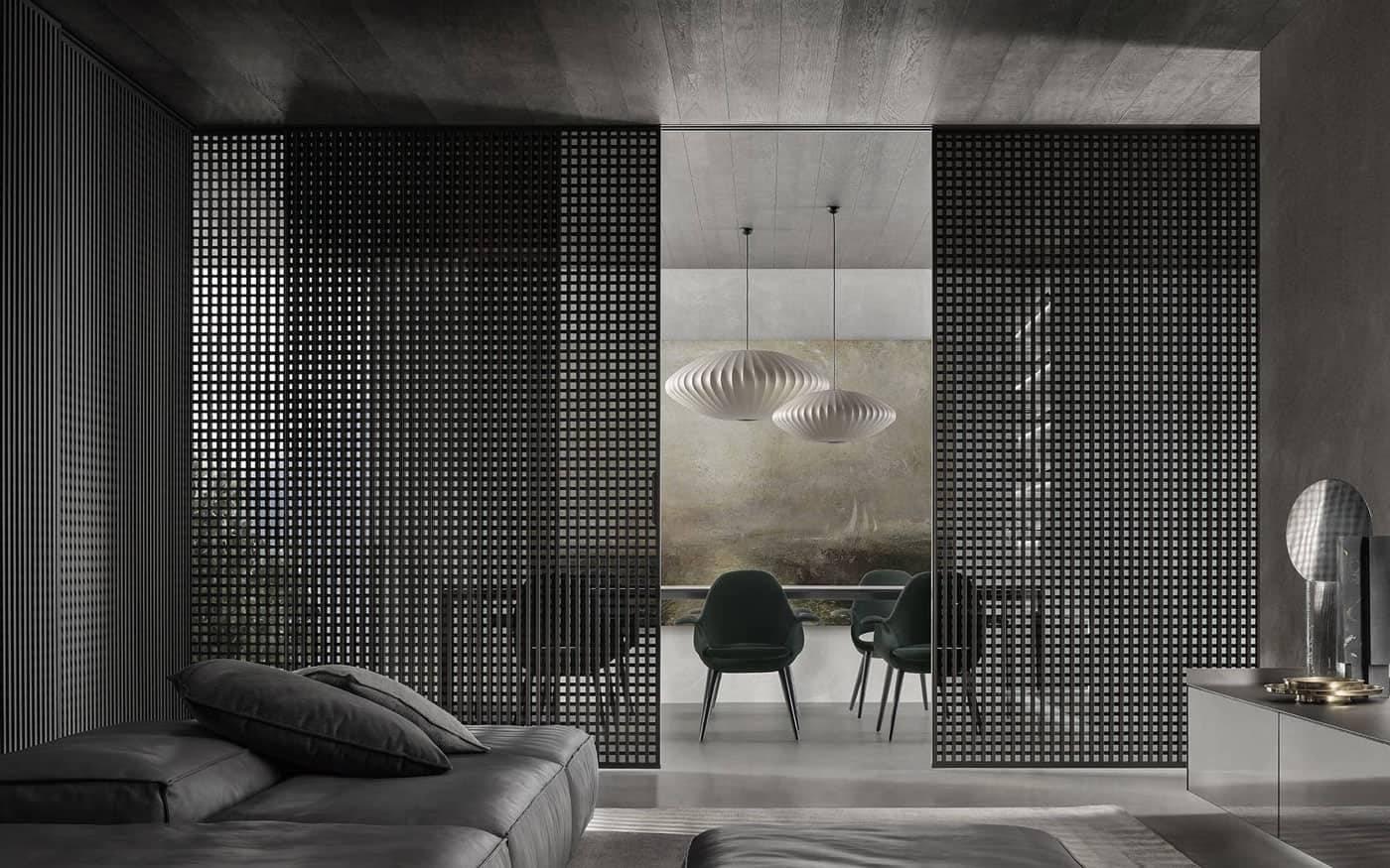 italiaanse design schuifdeuren hoekopstelling voor woonkamer rimadesio dealer