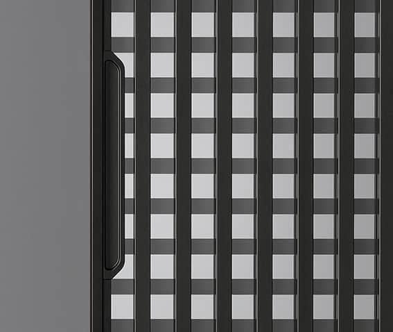 rimadesio daimon schuifdeur zwarte aluminium greep