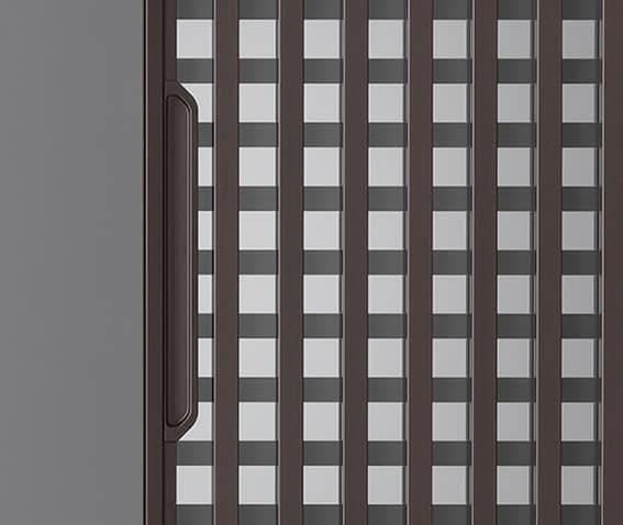 rimadesio daimon schuifdeur bruine aluminium greep