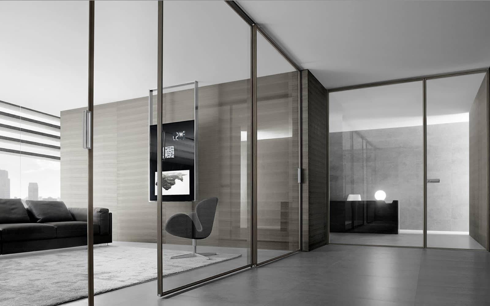 moderne aluminium binnendeuren met glas rimadesio