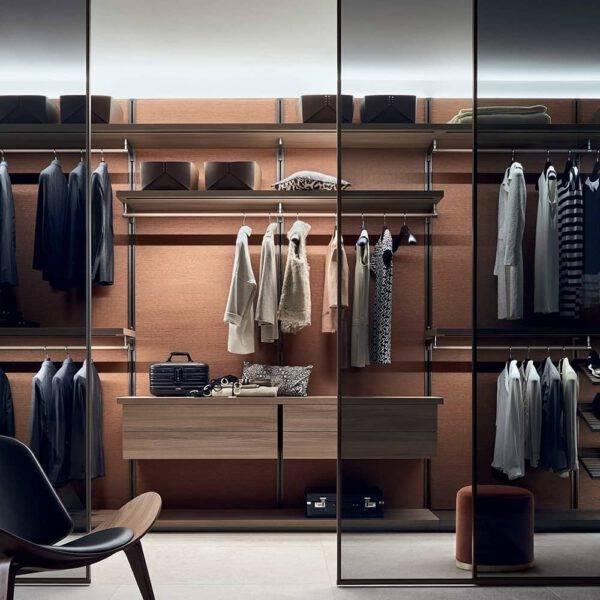 luxe kleedkamer met inloopkast italiaans design rimadesio dress bold