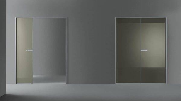design glazen schuifdeur in de wand rimadesio link