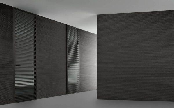 design draaideur met horizontale profielen Rimadesio
