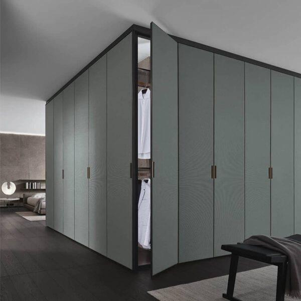 luxe hoek garderobe kast op maat met textiel deuren rimadesio cover