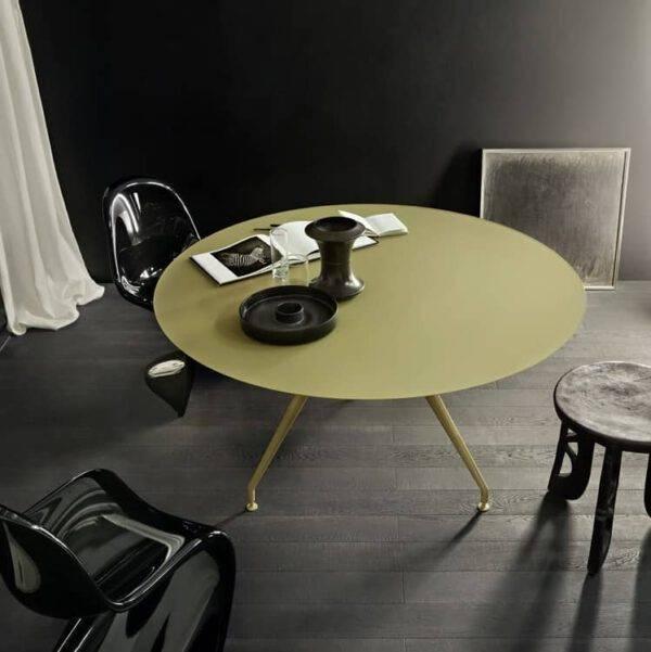 design ronde tafel in gekleurd glas kopie