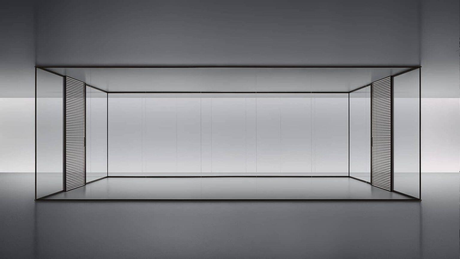 design-stripe-schuifdeur-rimadesio-met-akoestische-glazen-wanden-spazio
