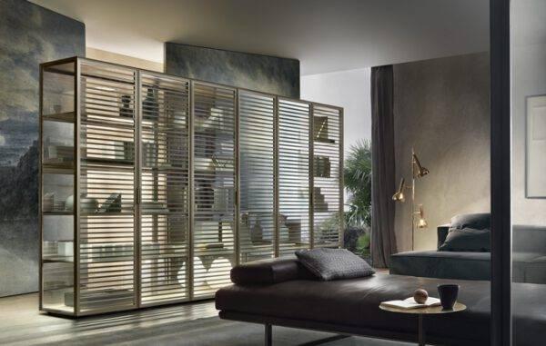 luxe vrijstaande vitrinekast met led-verlichting