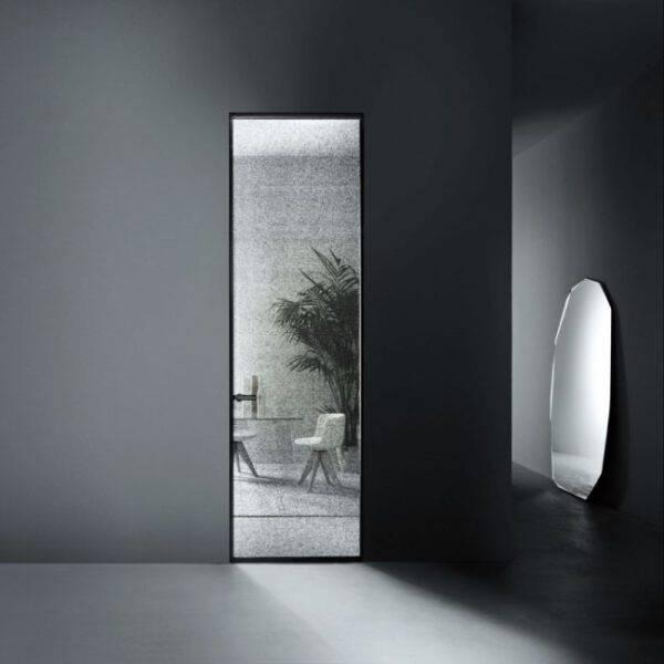 Luxe kozijnloze glazen binnendeur op maat glasitalia