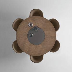 Rimadesio Manta hout en glazen blad 10