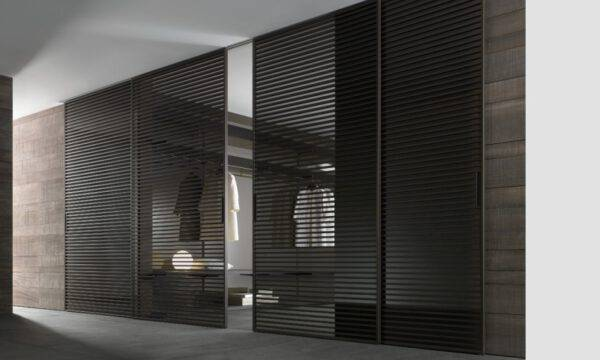 luxe italiaanse schuifdeuren rimadesio stripe met horizontale aluminium profielen kamerhoog op maat