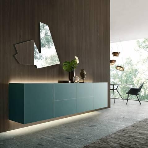 design zwevend dressoir in glas italiaanse meubelen op maat rimadesio self
