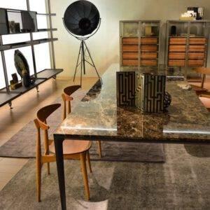 Rimadesio Long Island tafel rechthoekig marmer blad 04