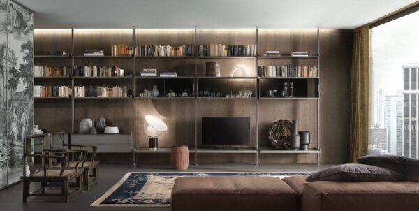 italiaanse_design_boekenkast_in_aluminium_en_glas_rimadesio_zenit