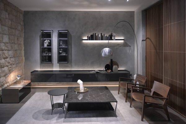 luxe glazen vitrinekast met led verlichting_