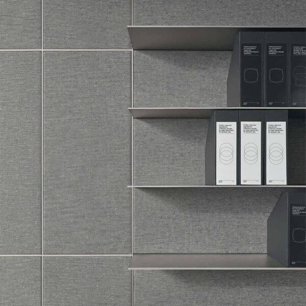 exclusieve wandafwerking voor kantoor in luxe stoffen