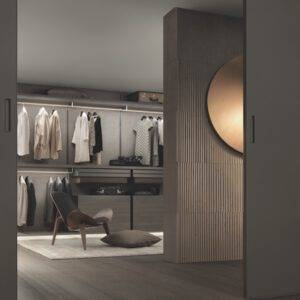 Rimadesio Dress Bold Inloopkasten met textielpanelen