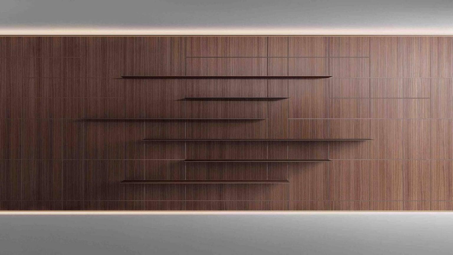 design interieurpanelen op maat met vierkante en rechthoekige vlakken