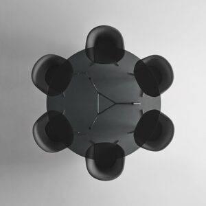 Rimadesio Manta ronde Manta tafel transparant glas 02