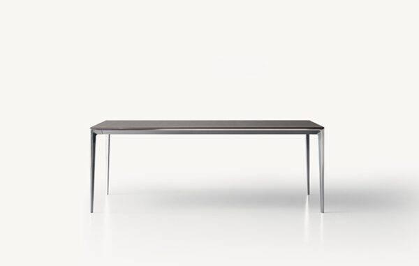 italiaans verlengbare design tafel met houten blad en aluminium poten rimadesio long island