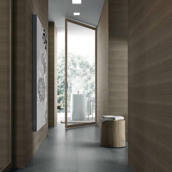 Moderne kamerhoge glazen binnendeur italiaans design op maat rimadesio siparium.
