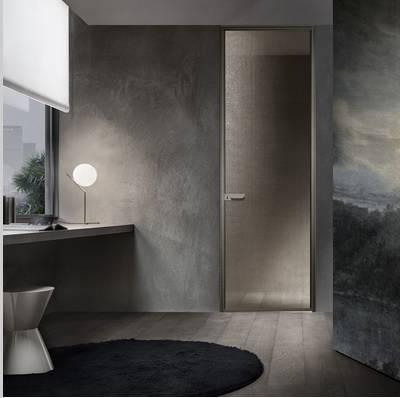 rimadesio zen deur in rete bronzo glas italiaans design