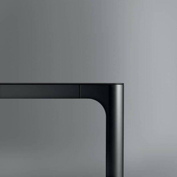 aluminium zwarte poot tafel
