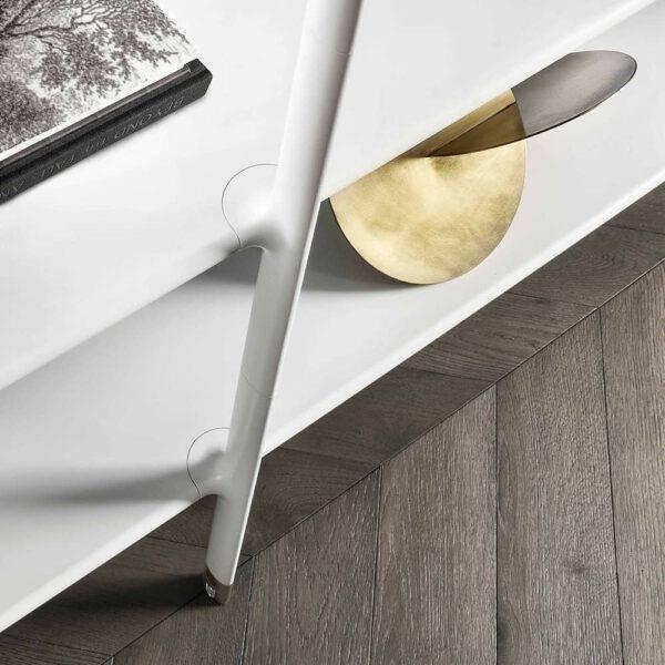 design boekenkast in wit aluminium en glas rimadesio wind
