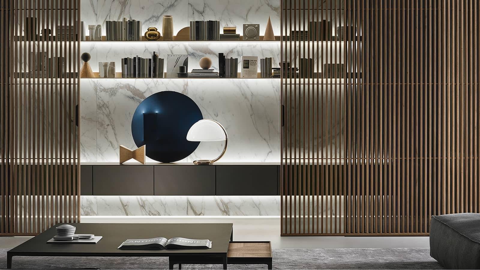 italiaans design zwevend wandmeubel glas rimadesio_