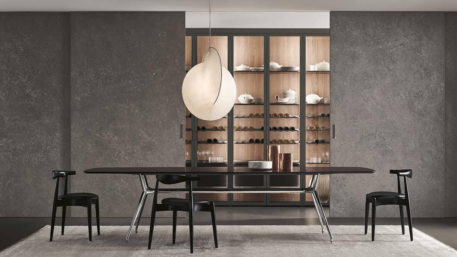 luxe italiaanse grote schuifpanelen in keramiek rimadesio graphis