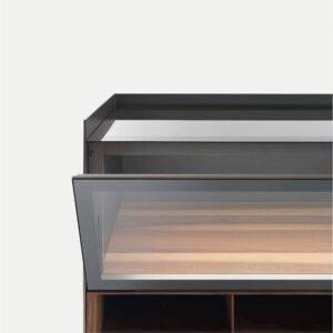luxe kast in glas met vitrine italiaans design