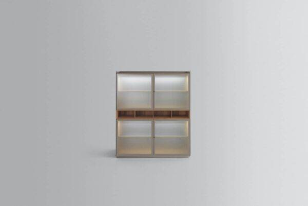 rimadesio self bold glazen italiaanse vrijstaande kast