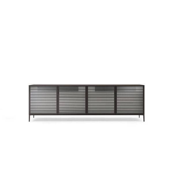 design italiaans meubel dressoir met louvre deurtjes