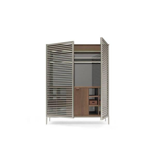 design luxe barmeubel met koeling in hout en glas rimadesio alambra