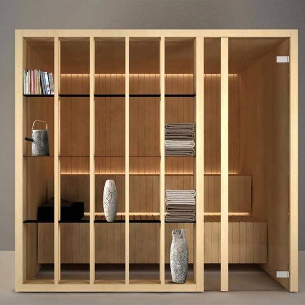 italiaanse design sauna op maat in espenhout effegibi yoku