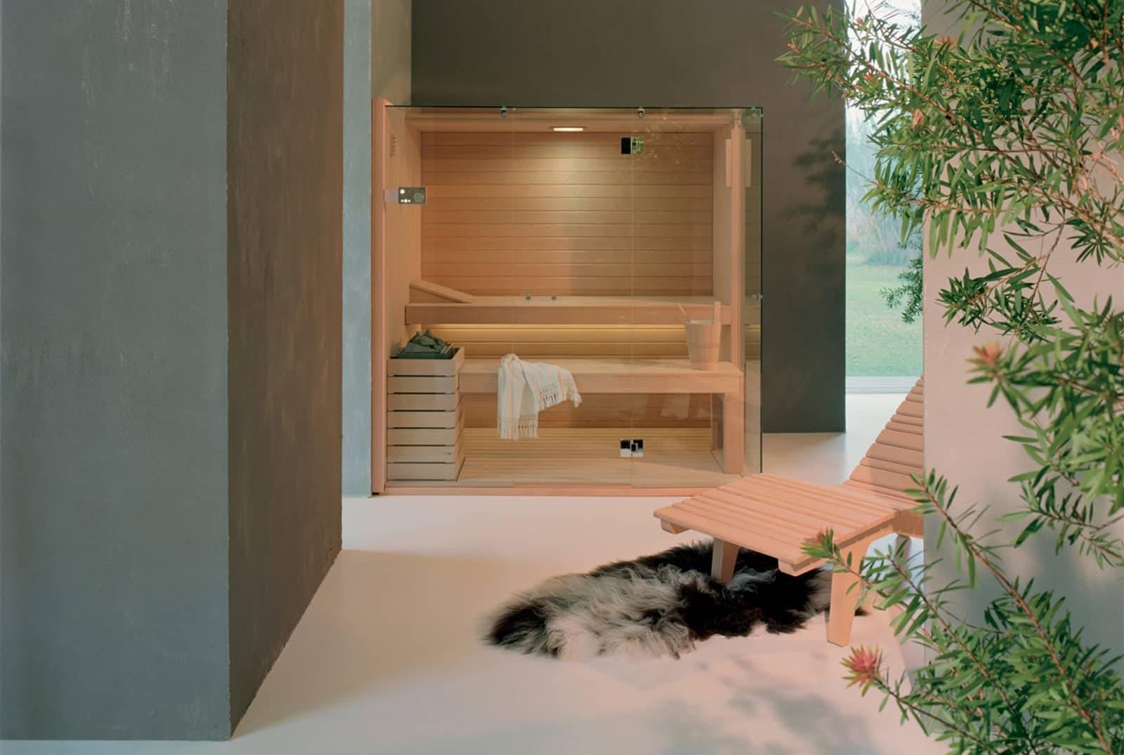 luxe badkamer met sauna effegibi skycorner italiaans maatwerk