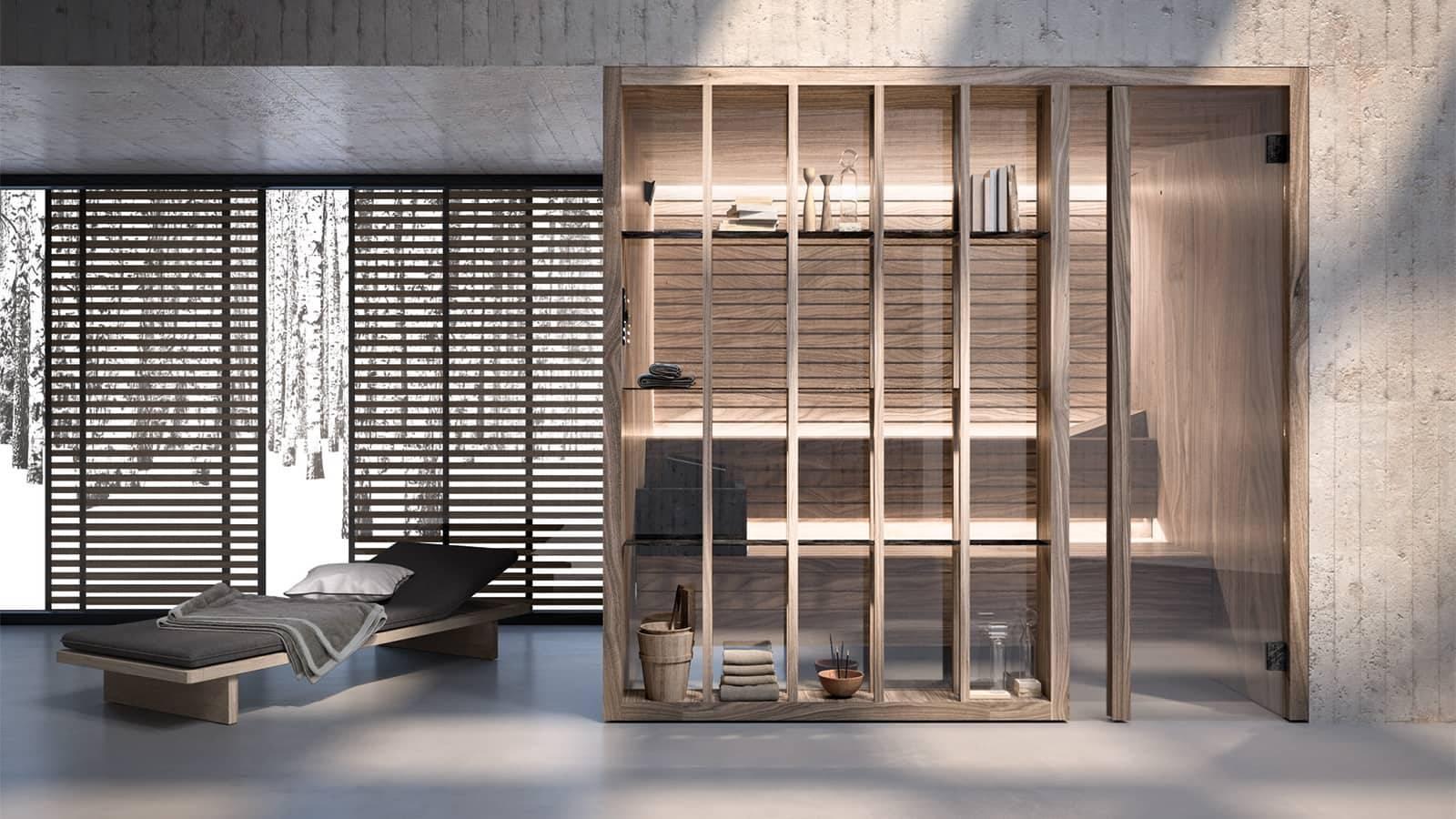 luxe finse sauna in walnotenhout japanse look effegibi yoku