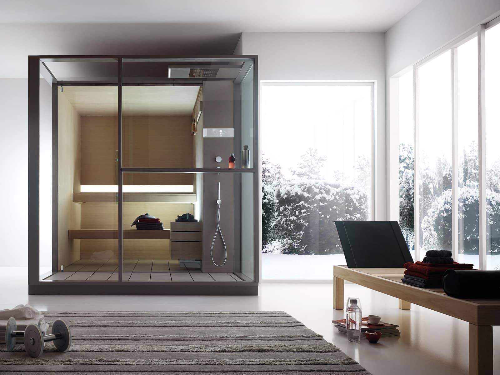effegibi logica design gecombineerde sauna en stoomcabine op maat