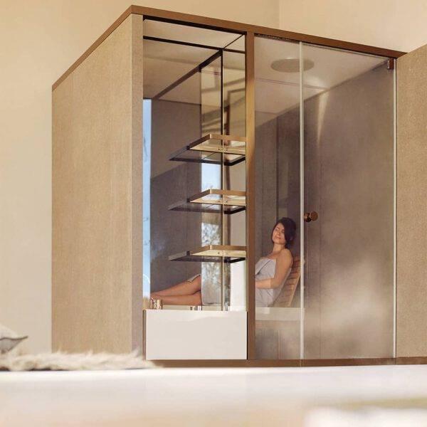 luxe stoomcabine voor badkamer Effegibi hammam