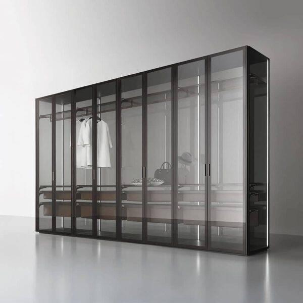 design display kast kleedkamer met lades rimadesio dolmen