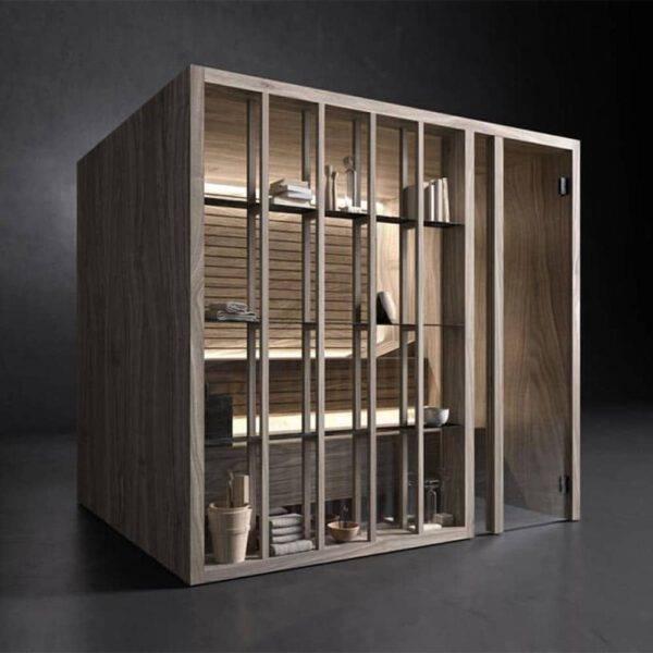 moderne design japanse sauna op maat in notenhout effegibi yoku_