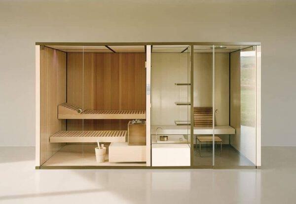 design sauna en stoomcabine gecombineerd effegibi