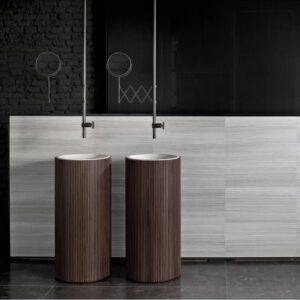 adda-salvatori-italiaanse design badkamer ronde vrijstaande wastafels in marmer