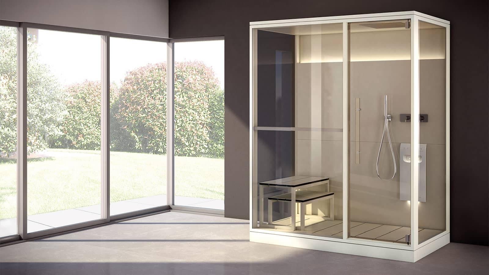design eenpersoons stoomcabine op maat voor badkamer of wellness thuis effegibi H