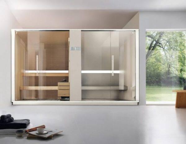 inbouw stoomcabine en sauna combinatie design effegibi logica SH