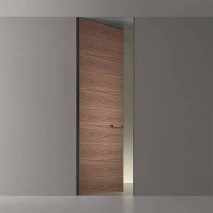 luxe kozijnloze deur in hout italiaans design rimadesio moon
