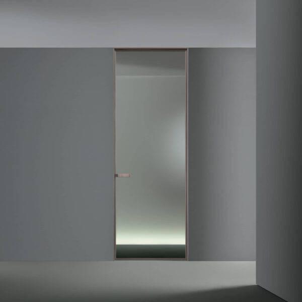 luxe glazen binnendeur met reflecterend en spiegelend glas rimadesio vela